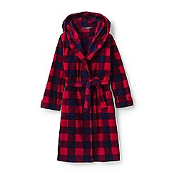 Lands' End - Red boys' patterned fleece dressing gown