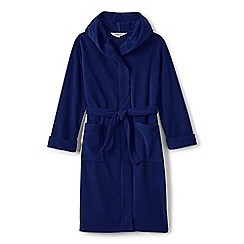 Lands' End - Blue boys' plain fleece dressing gown