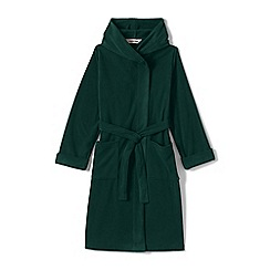 Lands' End - Boys' green plain fleece dressing gown