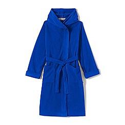 Lands' End - Blue boys' plain fleece dressing gown