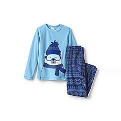 Lands' End - Blue boys' fleece pyjama set