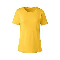 Lands' End - Yellow regular cotton rib crew neck t-shirt