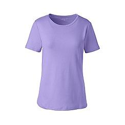 Lands' End - Purple Plus Short Sleeve Cotton Rib Crew Neck T-Shirt