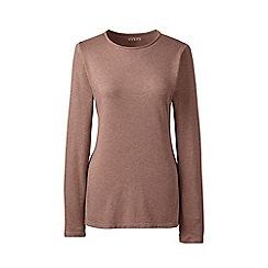 Lands' End - Brown regular long sleeves crew neck t-shirt