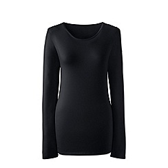 Lands' End - Black long sleeve cotton/modal crew neck tee