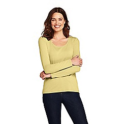 Lands' End - Yellow long sleeve cotton/modal scoop neck t-shirt