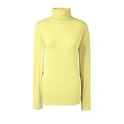 Lands' End - Yellow regular roll neck top