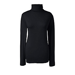 Lands' End - Black cotton/modal roll neck