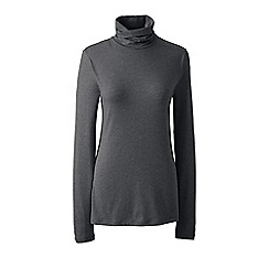 Lands' End - Grey plus cotton/modal roll neck