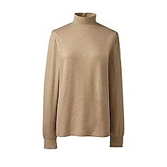 Lands' End - Beige plus long sleeves polo neck