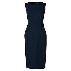 Lands' End - Blue ponte jersey sleeveless darted dress