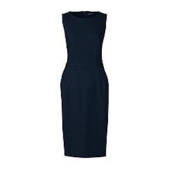 Lands' End - Blue plus ponte jersey sleeveless darted dress