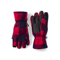 Lands' End - Red ez touch thermacheck-200 patterned gloves