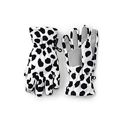 Lands' End - White ez touch thermacheck-200 patterned gloves