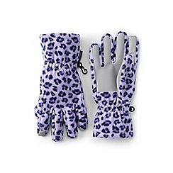 Lands' End - Girls' purple ez touch thermacheck-200 patterned gloves