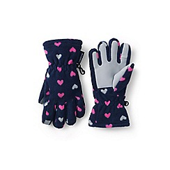 Lands' End - Blue ez touch thermacheck-200 patterned gloves