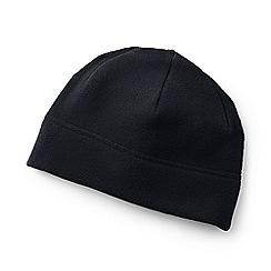 Lands' End - Black theremacheck-200 fleece beanie hat