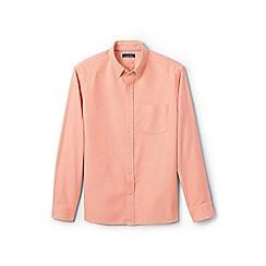 Lands' End - Orange traditional fit sail rigger Oxford shirt