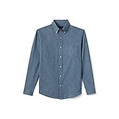 Lands' End - Blue regular chambray shirt