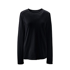 Lands' End - Black supima long sleeved crew neck tee