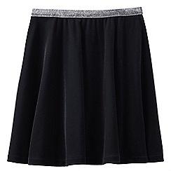 Lands' End - Black girls' velveteen skirt