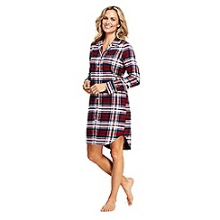 Lands' End - Red petite flannel patterned nightdress