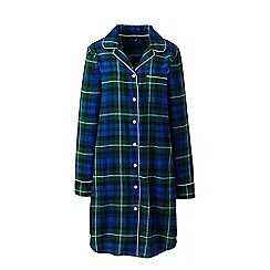 Lands' End - Blue petite flannel patterned nightdress