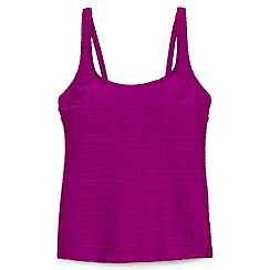 Lands' End - Purple d-cup textured scoop neck tankini top