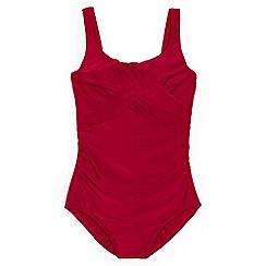 Lands' End - Red regular Carmela slender swimsuit
