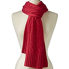 Lands' End - Red cashmere cable scarf