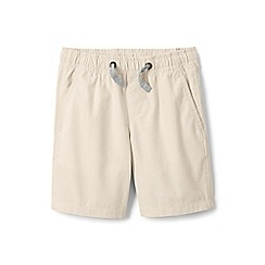 Lands' End - Boys' cream pull-on shorts