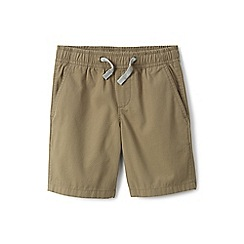 Lands' End - Boys' beige pull-on shorts