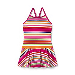 Lands' End - Girls' multicoloured smart swim skirted swimsuit