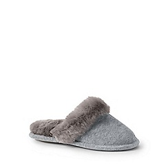 Lands' End - Girls' grey cosy mule slippers