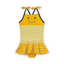 Lands' End - Yellow toddler girls' skirted swimsuit
