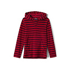 Lands' End - Red toddler boys' terry beach hoodie