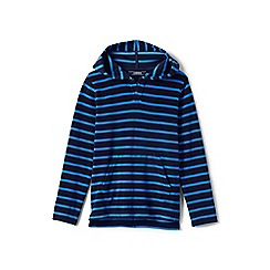 Lands' End - Blue toddler boys' terry beach hoodie