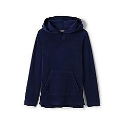Lands' End - Boys' blue terry beach hoodie