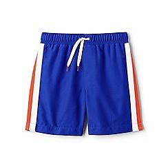 Lands' End - Blue side-stripe swim shorts