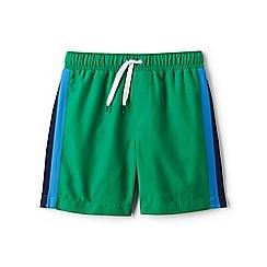 Lands' End - Green side-stripe swim shorts