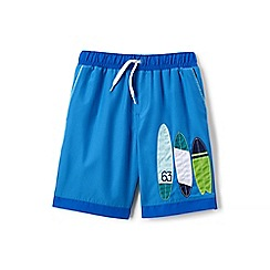 Lands' End - Blue boys' applique swim shorts