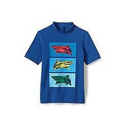 Lands' End - Blue Toddler Boys' Graphic Rash Vest