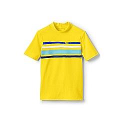 Lands' End - Yellow boys' short sleeve graphic rash vest
