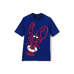 Lands' End - Blue boys' short sleeve graphic rash vest