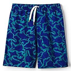 Lands' End - Boys' blue printed swim shorts