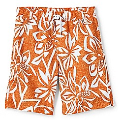 Lands' End - Boys' orange printed swim shorts