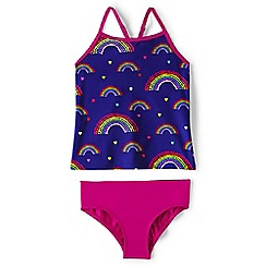 Lands' End - Purple smart swim patterned tankini