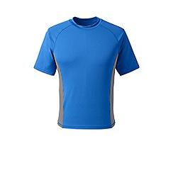 Lands' End - Blue regular short sleeve rash t-shirt