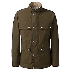 Lands' End - Green regular four-pocket biker jacket