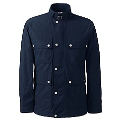 Lands' End - Blue regular four-pocket biker jacket